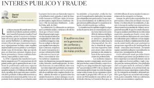INTERES PUBLICO Y FRAUDE- DANIEL FAURA