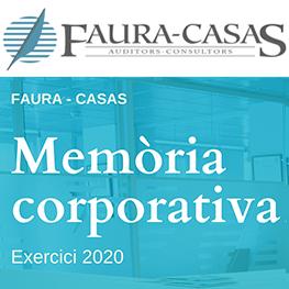 Memòria Corporativa 2020 Faura-Casas